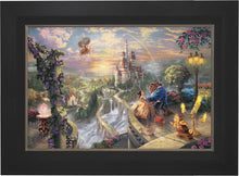 Load image into Gallery viewer, Beauty and the Beast Falling in Love - Limited Edition Canvas (SN - Standard Numbered) - ArtOfEntertainment.com