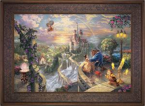 Beauty and the Beast Falling in Love - Limited Edition Canvas (SN - Standard Numbered) - ArtOfEntertainment.com
