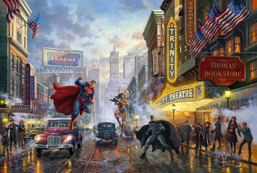 Batman, Superman, Wonder Woman - Limited Edition Canvas - SN - (Unframed)
