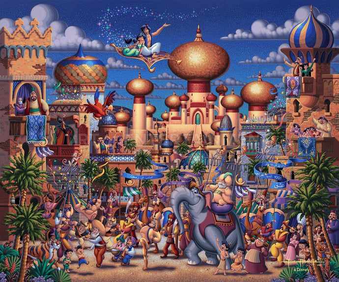 Aladdin - Celebration in Agrabah - Limited Edition Canvas - SN - (Unframed)
