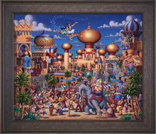 Load image into Gallery viewer, Aladdin - Celebration in Agrabah - Limited Edition Canvas (SN - Standard Numbered)
