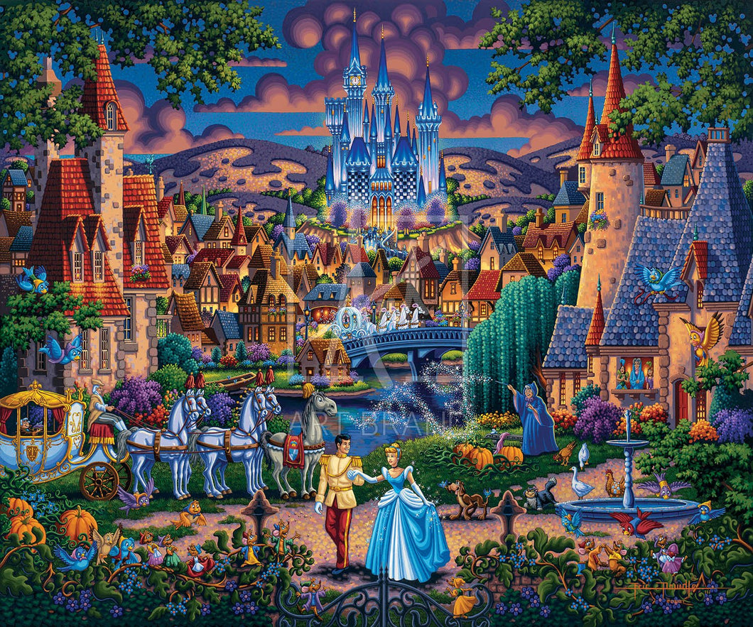 Cinderella's Enchanted Evening - Limited Edition Canvas - SN - (Unframed)