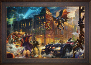 The Dark Knight Saves Gotham City - Limited Edition Canvas (SN - Standard Numbered) - ArtOfEntertainment.com