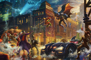 Dark Knight Saves Gotham City, The - Limited Edition Canvas - SN - (Unframed)