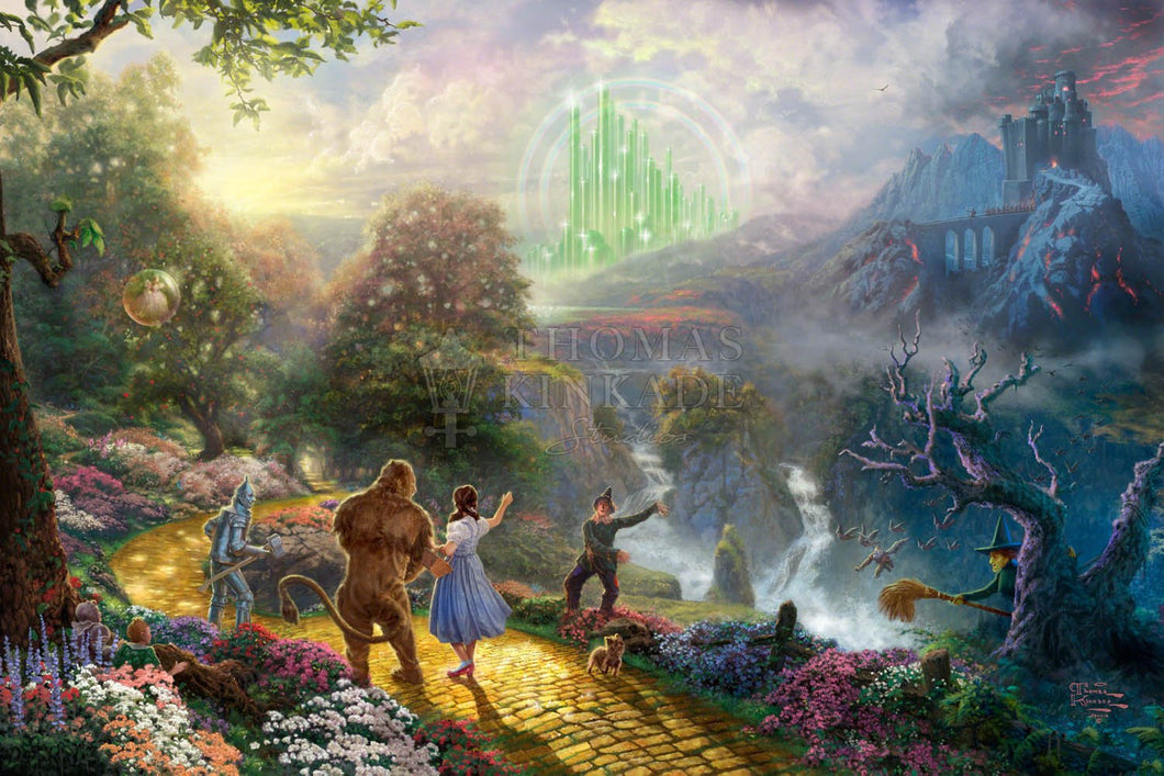 Dorothy Discovers the Emerald City - Limited Edition Canvas - SN - (Unframed)