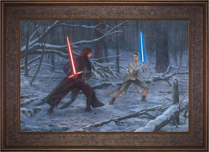 The Duel: Rey vs. Ren - Limited Edition Canvas (SN - Standard Numbered) - ArtOfEntertainment.com