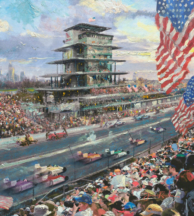 Indianapolis Motor Speedway Study - Limited Edition Canvas - SN - (Unframed)