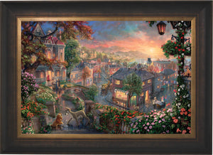 Lady and the Tramp - Limited Edition Canvas (SN - Standard Numbered) - ArtOfEntertainment.com