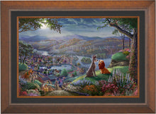 Load image into Gallery viewer, Disney Lady and the Tramp Falling in Love - Limited Edition Canvas (SN - Standard Numbered) - ArtOfEntertainment.com