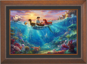 The Little Mermaid Falling in Love - Limited Edition Canvas (JE - Jewel Edition) - ArtOfEntertainment.com