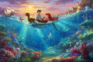 Little Mermaid Falling in Love, The - Limited Edition Canvas - JE - (Unframed)
