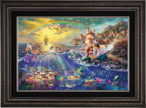 The Little Mermaid - Limited Edition Canvas (JE - Jewel Edition) - ArtOfEntertainment.com