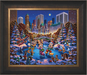 Mickey and Friends Skating in Central Park - Limited Edition Canvas (AP - Artist Proof) - ArtOfEntertainment.com