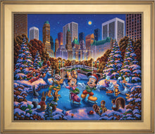 Load image into Gallery viewer, Mickey and Friends Skating in Central Park - Limited Edition Canvas (AP - Artist Proof) - ArtOfEntertainment.com