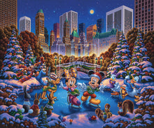 Load image into Gallery viewer, Mickey and Friends Skating in Central Park - Limited Edition Canvas - AP - (Unframed)