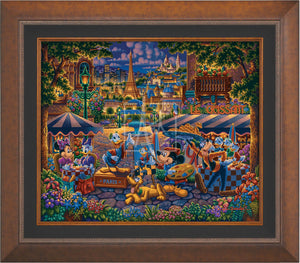 Mickey and Friends in Paris - Limited Edition Canvas (SN - Standard Numbered) - ArtOfEntertainment.com