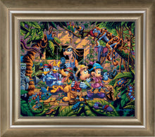 Load image into Gallery viewer, Mickey and Friends Exploring the Jungle - Limited Edition Canvas (AP - Artist Proof) - ArtOfEntertainment.com