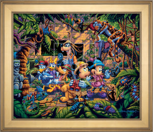Mickey and Friends Exploring the Jungle - Limited Edition Canvas (AP - Artist Proof) - ArtOfEntertainment.com