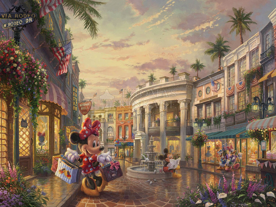 Minnie Rocks the Dots on Rodeo Drive - Limited Edition Canvas - SN - (Unframed)