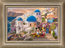Load image into Gallery viewer, Disney Mickey and Minnie in Greece - Limited Edition Canvas (SN - Standard Numbered)