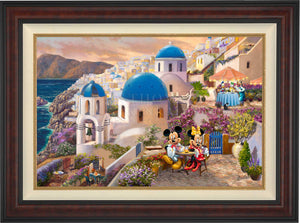 Disney Mickey and Minnie in Greece - Limited Edition Canvas (SN - Standard Numbered)