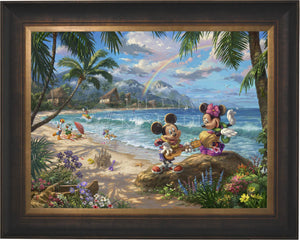 Mickey and Minnie in Hawaii - Limited Edition Canvas (SN - Standard Numbered) - ArtOfEntertainment.com