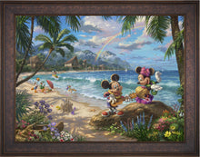 Load image into Gallery viewer, Mickey and Minnie in Hawaii - Limited Edition Canvas (SN - Standard Numbered) - ArtOfEntertainment.com