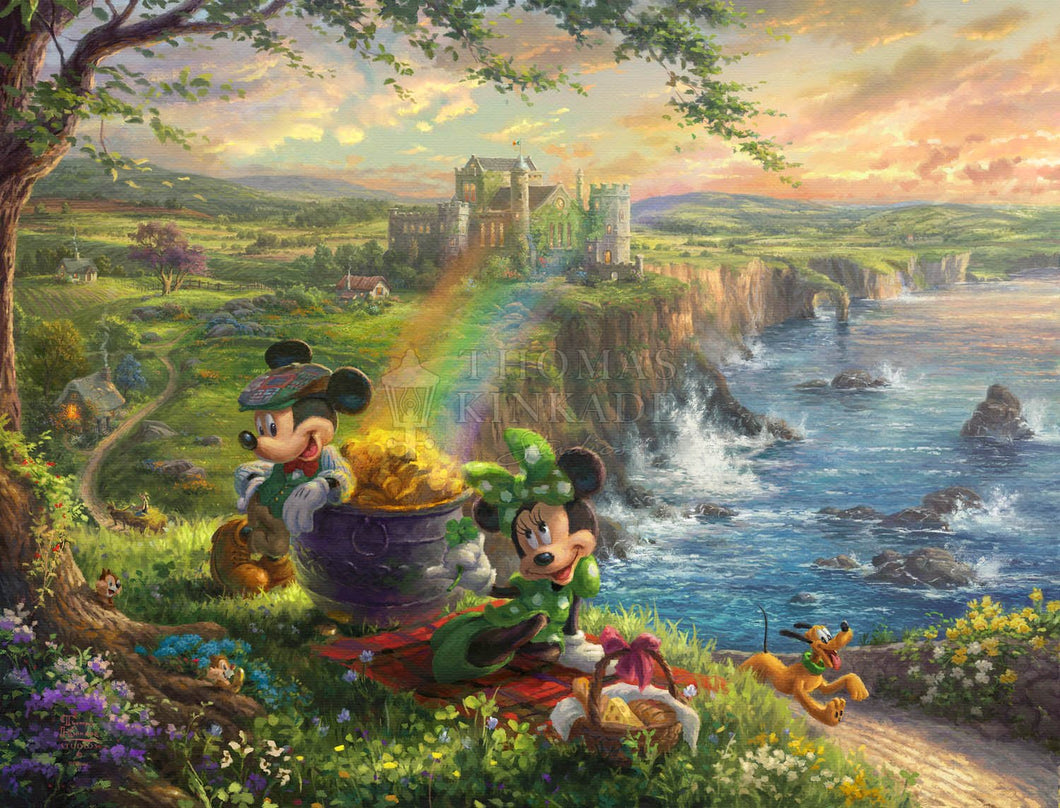 Mickey and Minnie in Ireland - Limited Edition Canvas - SN - (Unframed)