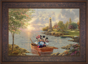 Mickey and Minnie Lighthouse Cove - Limited Edition Canvas (JE - Jewel Edition) - ArtOfEntertainment.com