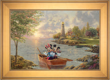 Load image into Gallery viewer, Mickey and Minnie Lighthouse Cove - Limited Edition Canvas (JE - Jewel Edition) - ArtOfEntertainment.com