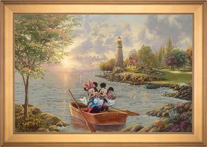 Mickey and Minnie Lighthouse Cove - Limited Edition Canvas (SN - Standard Numbered) - ArtOfEntertainment.com
