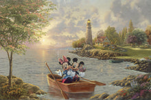 Load image into Gallery viewer, Mickey and Minnie Lighthouse Cove - Limited Edition Canvas - JE - (Unframed)