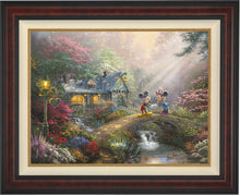 Load image into Gallery viewer, Mickey and Minnie - Sweetheart Bridge - Limited Edition Canvas (SN - Standard Numbered) - ArtOfEntertainment.com