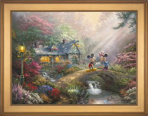 Mickey and Minnie - Sweetheart Bridge - Limited Edition Canvas (SN - Standard Numbered) - ArtOfEntertainment.com