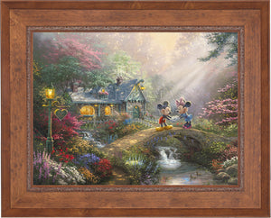 Mickey and Minnie - Sweetheart Bridge - Limited Edition Canvas (JE - Jewel Edition) - ArtOfEntertainment.com