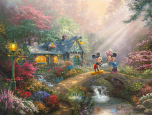 Load image into Gallery viewer, Disney Mickey and Minnie - Sweetheart Bridge - Limited Edition Canvas - JE - (Unframed)