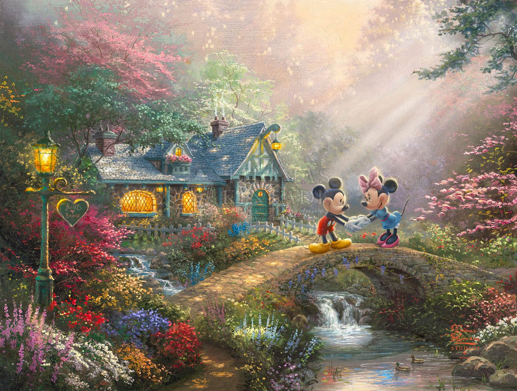 Disney Mickey and Minnie - Sweetheart Bridge - Limited Edition Canvas - JE - (Unframed)