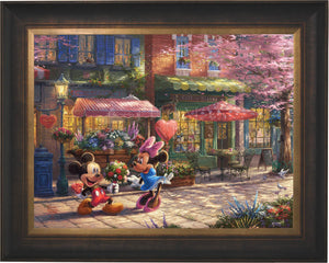 Mickey and Minnie - Sweetheart Café - Limited Edition Canvas (JE - Jewel Edition) - ArtOfEntertainment.com