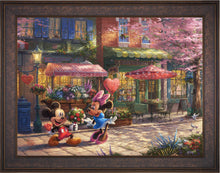 Load image into Gallery viewer, Mickey and Minnie - Sweetheart Café - Limited Edition Canvas (JE - Jewel Edition) - ArtOfEntertainment.com