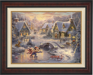 Mickey and Minnie - Sweetheart Holiday - Limited Edition Canvas (SN - Standard Numbered) - ArtOfEntertainment.com