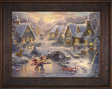 Load image into Gallery viewer, Mickey and Minnie - Sweetheart Holiday - Limited Edition Canvas (SN - Standard Numbered) - ArtOfEntertainment.com