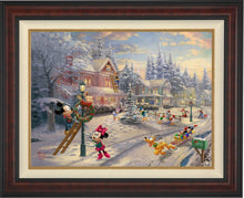 Load image into Gallery viewer, Mickey's Victorian Christmas - Limited Edition Canvas (JE - Jewel Edition) - ArtOfEntertainment.com