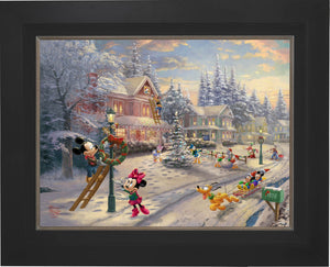 Mickey's Victorian Christmas - Limited Edition Canvas (JE - Jewel Edition) - ArtOfEntertainment.com