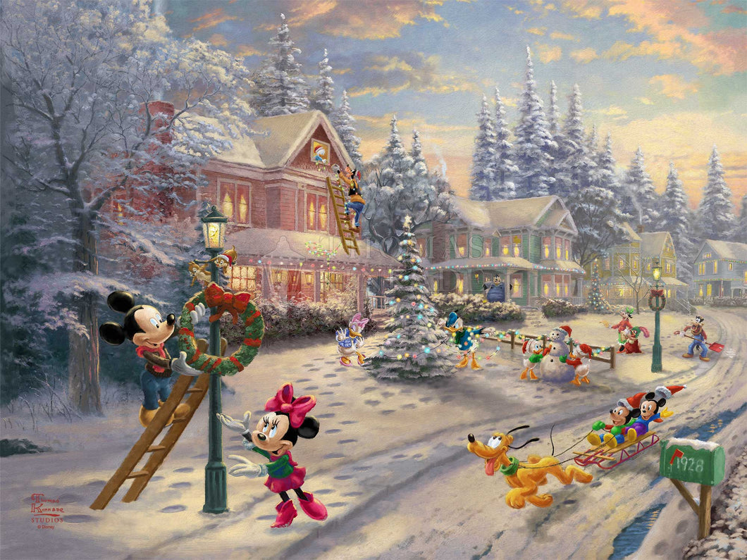 Mickey's Victorian Christmas - Limited Edition Canvas - SN - (Unframed)