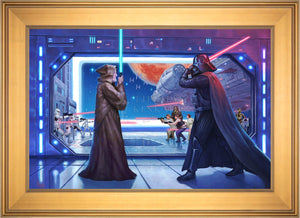 Obi-Wan's Final Battle - Limited Edition Canvas (SN - Standard Numbered) - ArtOfEntertainment.com