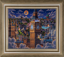 Load image into Gallery viewer, Peter Pan Learning to Fly - Limited Edition Canvas (AP - Artist Proof)