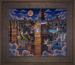 Peter Pan Learning to Fly - Limited Edition Canvas (AP - Artist Proof)