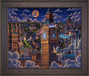 Peter Pan Learning to Fly - Limited Edition Canvas (SN - Standard Numbered)