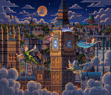 Load image into Gallery viewer, Peter Pan Learning to Fly - Limited Edition Canvas - SN - (Unframed)