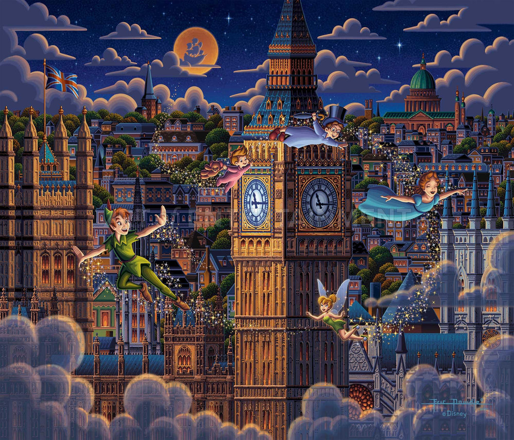 Peter Pan Learning to Fly - Limited Edition Canvas - SN - (Unframed)